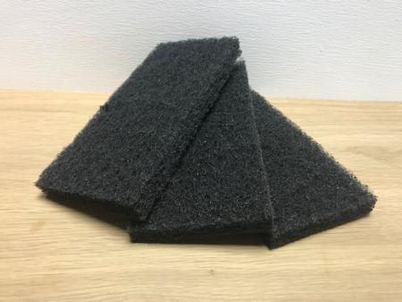 Pad Zwart Groot 12x25cm