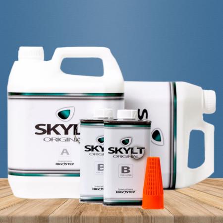 2x 4 Liter Rigostep Skylt Original